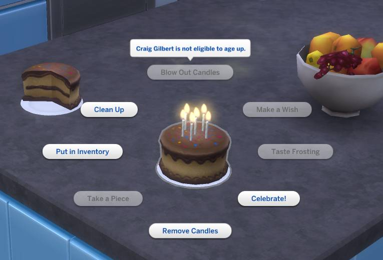 Candles On Cake Sims