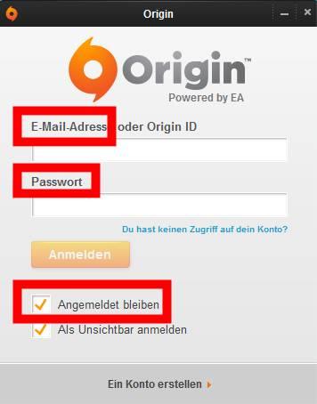 Origin Namen ändern