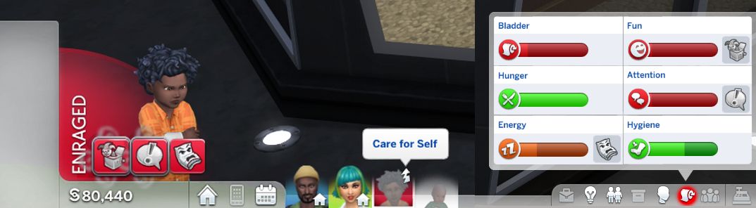 Household Sims on different lots don't take care of their