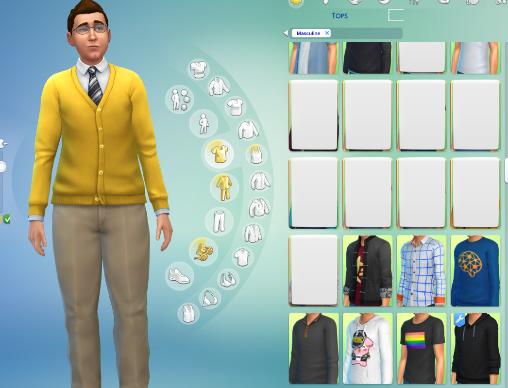 MOD RELATED] White Boxes in CAS – Crinric'ts Sims 4 Help Blog